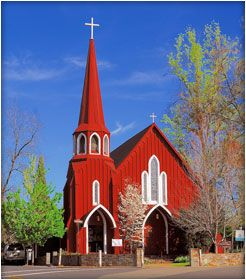 St. James Anglican Church, also known as the Red Church, was built in 1860 in Sonora, California