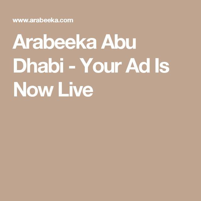 Arabeeka Abu Dhabi - Your Ad Is Now Live
