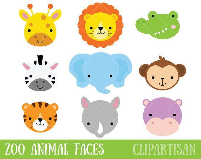Safari Baby Animals Clipart Jungle Animals Clipart Zoo Animals Clipart Safari Baby Animals Baby Animals Animal Clipart