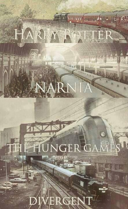 Harry Potter. Narnia. The Hunger Games. Divergent. Amazing stories have to have trains in them obviously.