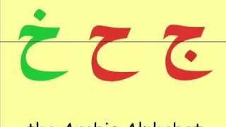 The Complete Arabic Alphabet -- الحروف العربية, via YouTube.