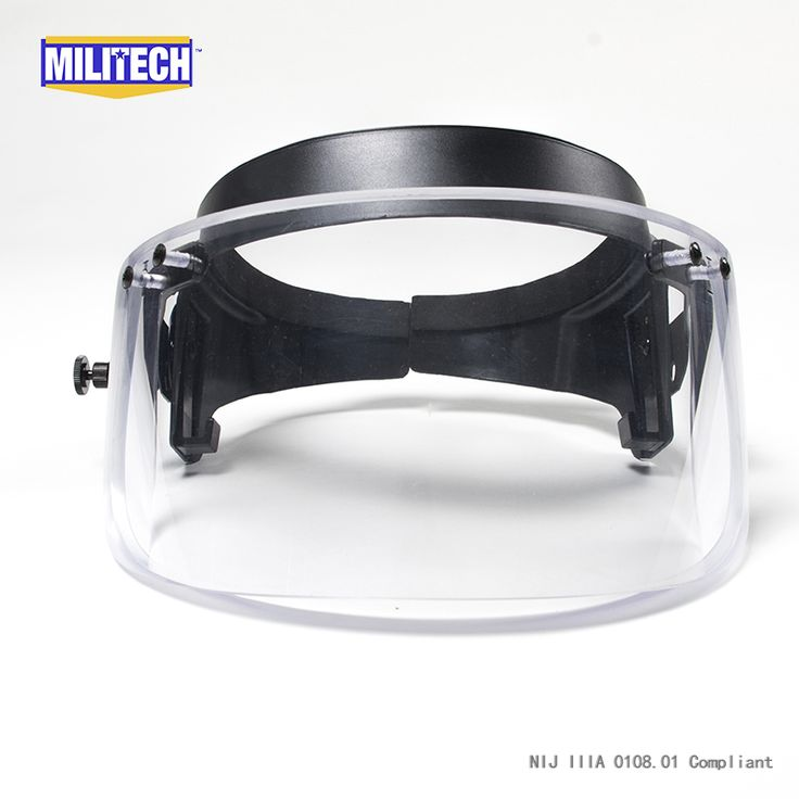 Bulletproof ballistic visor shield for PASGT ACH FAST helmet with Fix Ring Bullet proof visor guard Mask for Mich helmet