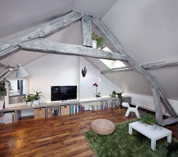 Attic Apartment Blends French Beauty And Rustic Charm