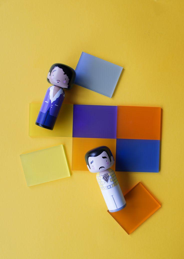 Sketch.inc / Prince & Freddie Kokeshi Dolls / Lucie Kaas