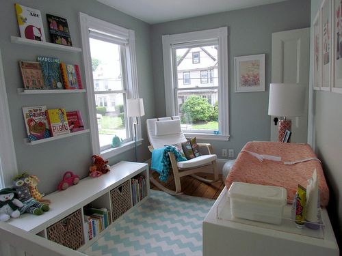 =)Bookshelves, Book Display, Small Room, Nurseries, Kids Room, Grey Wall, Book Shelves, Baby Room, Small Spaces