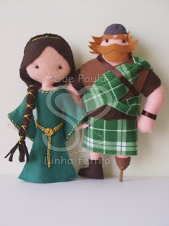 Brave felt dolls