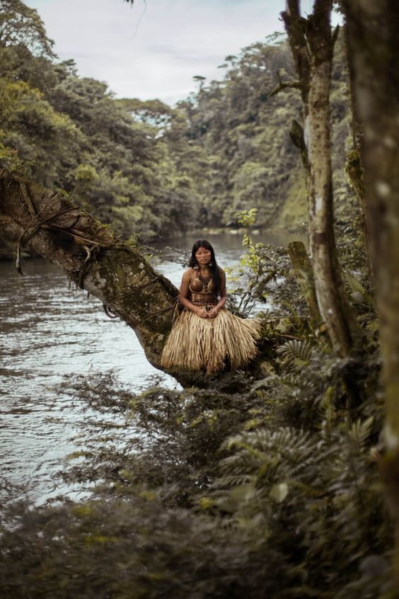 THE ATLAS OF BEAUTY- Kichwa woman in Amazonian Jungle from Ecuador ღ✟