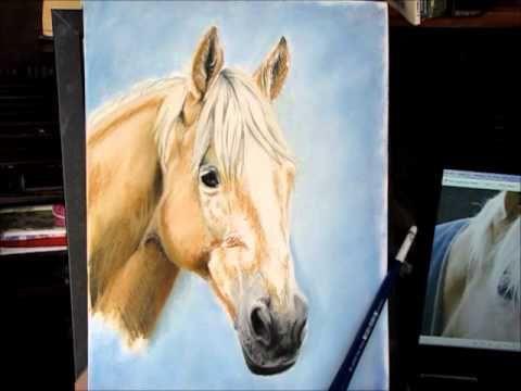 Blondie- Pastel Speed drawing of horse