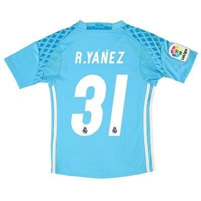 Real Madrid Home Goalkeeper Shirt 2016-17 - Kids with R.Yanes 31 print
