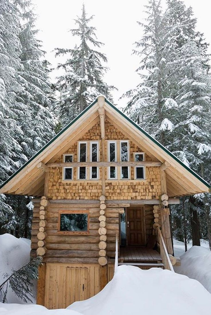 456 best images about log cabin chalet and winter life on for Winter cabin plans