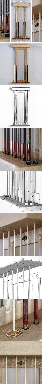 RH Brunswick billiards cue rack. 3D Furniture