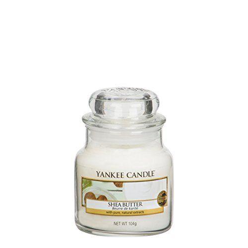 Yankee Candle 1332214E Bougie parfumée Beurre de karité 104 g en jarre Blanc: Yankee Candles Petit Bougie – Beurre de Karité – Yankee…