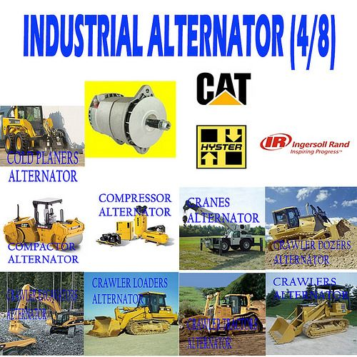 INDUSTRIAL ALTERNATOR (4/8) COLD PLANERS, COMPACTORS, CRANES, CRAWLER DOZERS AND CRAWLES EXCAVATORS, CRAWLER LOADERS, CRAWLER TRACTORS ALTERNATOR