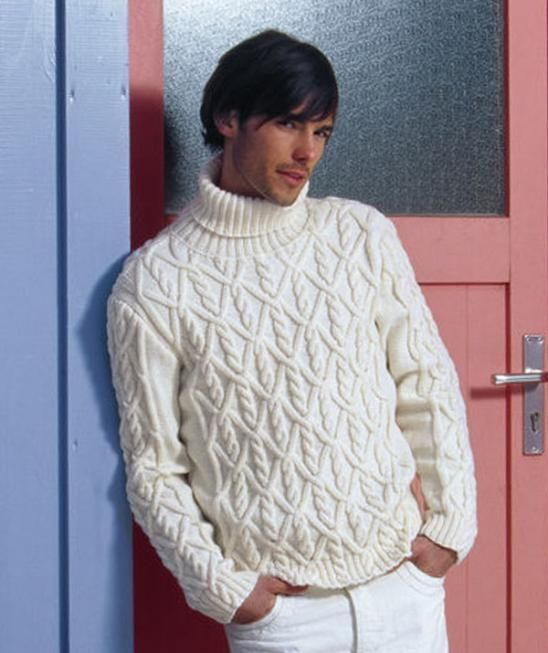 Knitting Pattern Guy : Man s Sweater with Cables, 6000 - Free Pattern Knitting ...