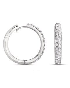 b95f1813e If you are looking for diamond hoops that are a little more than an  everyday essential, these will do the trick. 3/4 inch in diameter, hinged,  14k white ...
