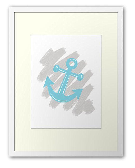 Anchor Printout / Wall art nursery Ocean by PocketFulOfPrintouts