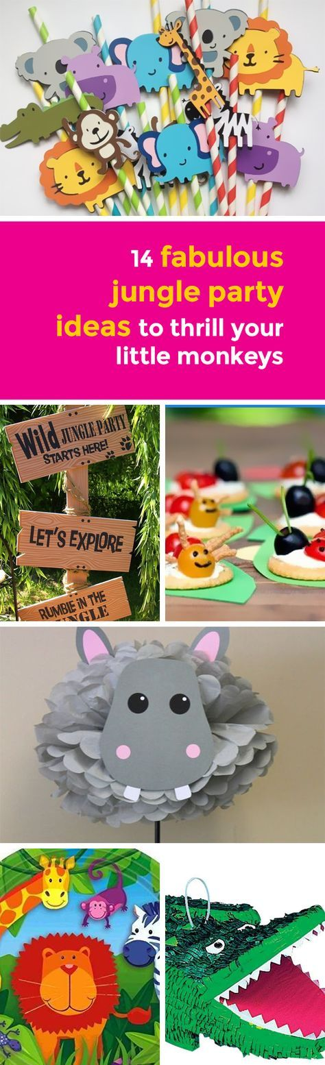 A jungle or safari themed party is ideal for a little one that loves to explore, learn about new things and wants to go on an adventure!