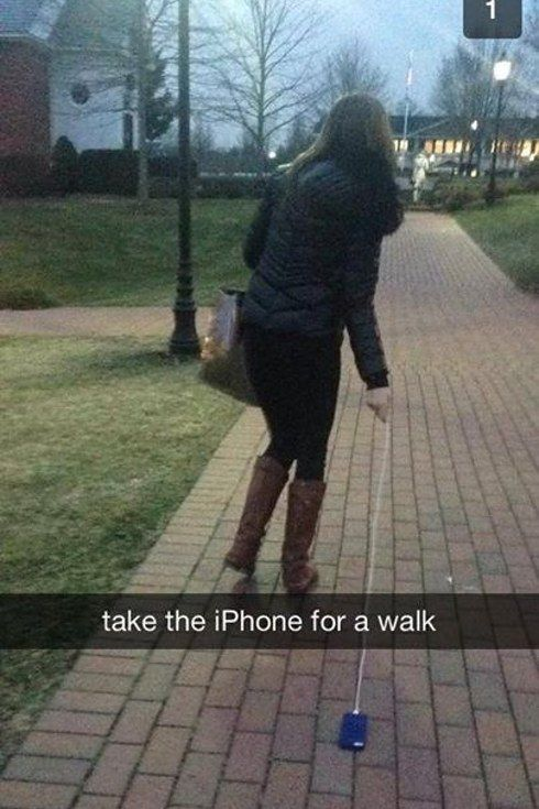 """This is how they use Apple products. 