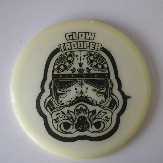 Glow Trooper Starwars Disc Golf Custom Dye Glow by vancitym1k3