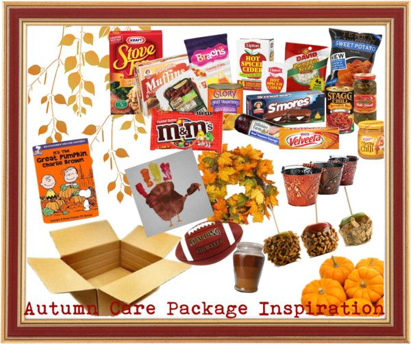 Lots of Ideas on things to send in a fall care package!