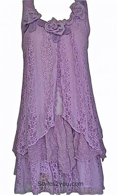 Pretty Angel Clothing Norma Victorian Tunic In Light Purple - Rehearsal Dinner Dress