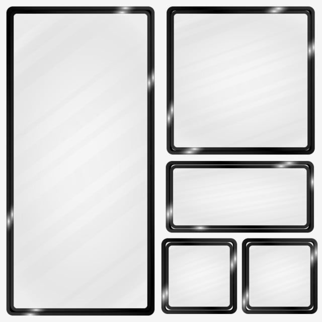 Black Metallic Frame Glass Effect Rectangle Clipart Frame Metallic Png And Vector With Transparent Background For Free Download Metal Frame Frame Black And White Background