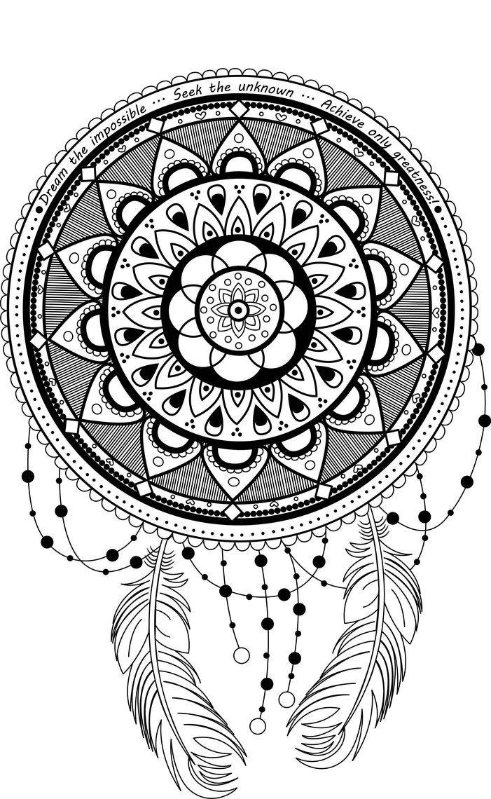 Coloring pages dream catchers - Dreamcatcher Mandala By Lotusartstudio Deviantart Com On Deviantart