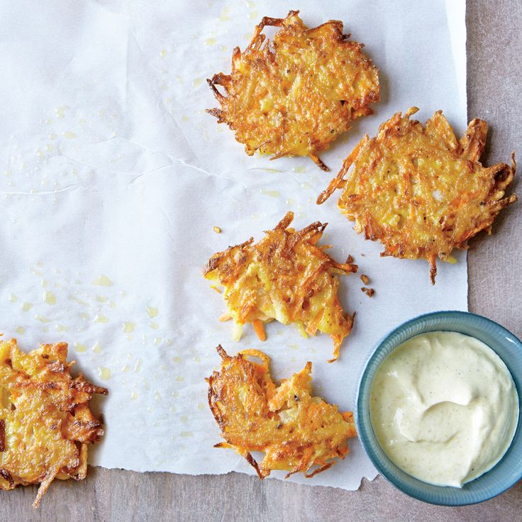 Carrots bring an earthy sweetness to these crispy, latke-like pancakes. To reheat, place on a baking sheet, and heat in a 325° oven until...
