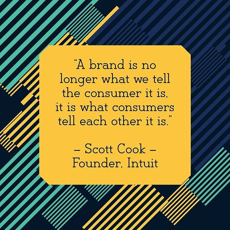 Branding and Social Media Quote of the day: A brand is no longer what we tell the consumer it is it is what consumers tell each other it is. Scott Cook  Founder Intuit  #seo #branding #startup #growth #entrepreneur #branding #leadership #bootstrap #business #webdesign #saas #growthhacking #growthhacker #success #innovation #creativity #b2b #b2c #socialmedia #facebook #twitter #instagram #developer #nodejs #javascript #coder