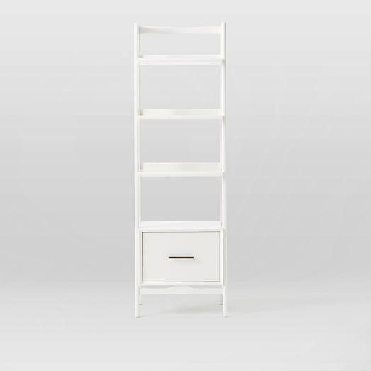 midcentury bookshelf narrow tower