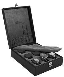 (Sold Out Discontinued) Leather 9 Watch Box, by Eilux - $380.00