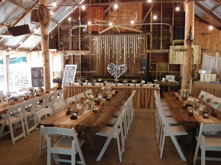 Inside the beautiful barn at The Boomerang Farm Mudgeeraba