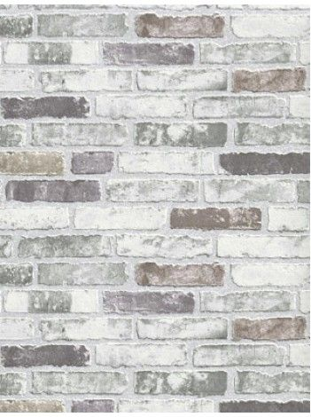 White Grey Brick Wallpaper for the kitchen backsplash -  $40
