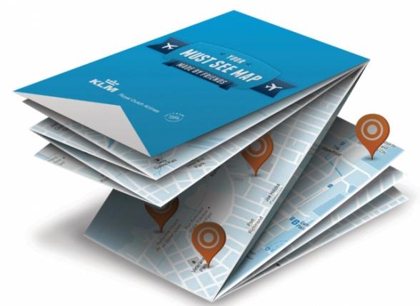 KLM航空、ソーシャルメディアで作る「世界でただ一つの旅行地図」 印刷して自宅に配送 | ブログタイムズBLOG 【海外広告事例】