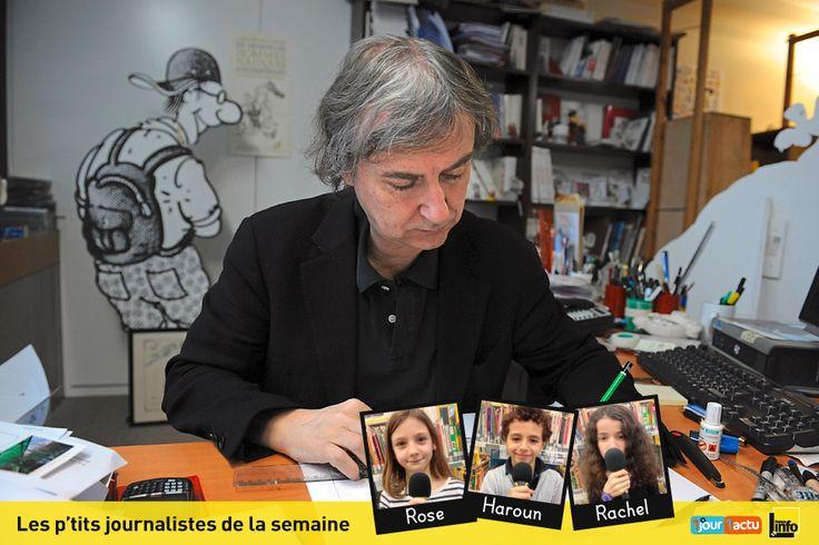 Les p'tits journalistes de France Info Junior, l'émission de radio partenaire d'1jour1actu, ont interviewé le dessinateur de presse Plantu.
