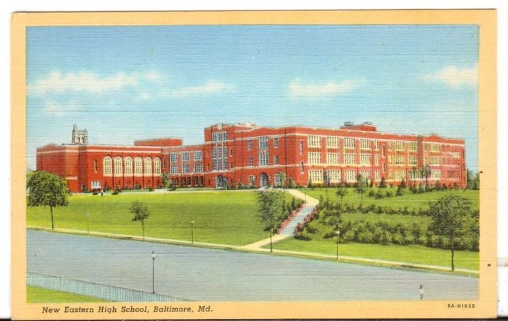 Undated Unused Postcard New Eastern High School Baltimore Maryland MD