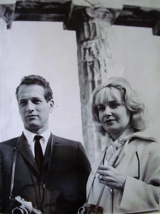 Paul Newman and Joanne Woodward visiting the Acropolis of Athens, Greece ~ 1962