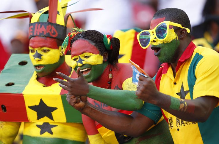 Ghana fans cheer at Nelson Mandela Bay Stadium in Port Elizabeth, South Africa. Photo: Reuters