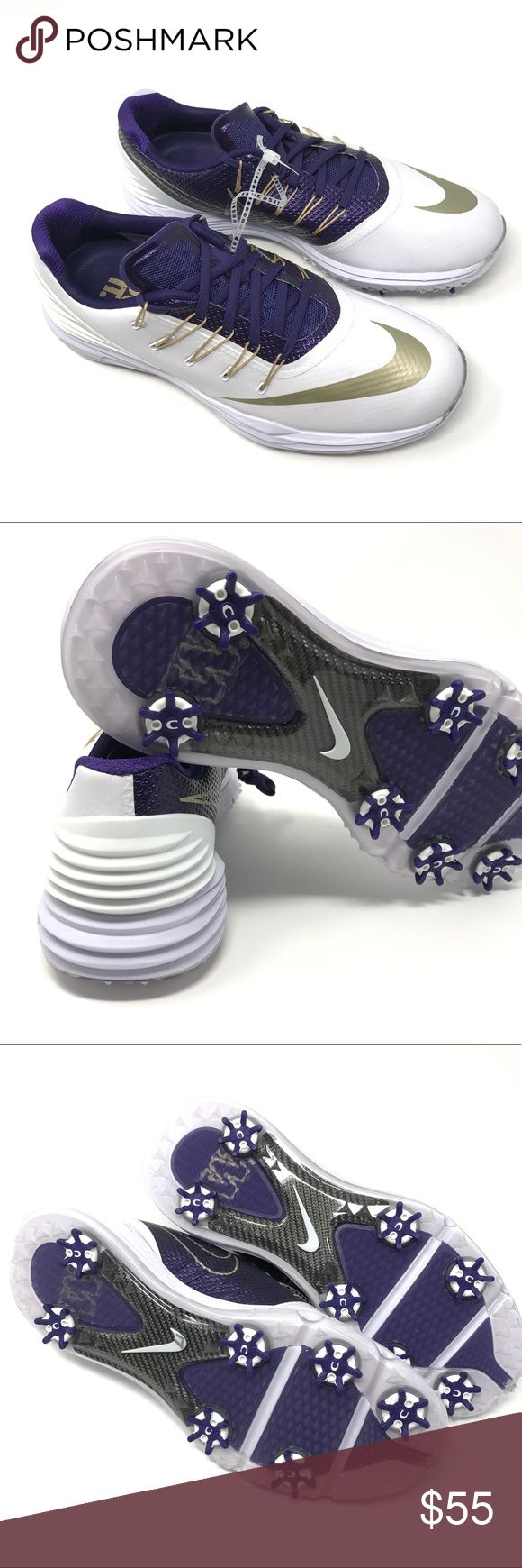 Nike Lunar 4 Women's Golf Shoes The Nike UW Huskies Lunar Control 4 Women's Golf Shoe is made with springy, responsive cushioning and a waterproof microfiber upper for lasting comfort and a lightweight fit during play.  BENEFITS  🔹Full-length Lunarlon midsole delivers unsurpassed cushioning underfoot🔹Nike Control Platform provides underfoot stability, smooth weight transfer and control through impact🔹Waterproof microfiber synthetic leather for durability🔹Zarma Tour Spike and Slim–LOK…