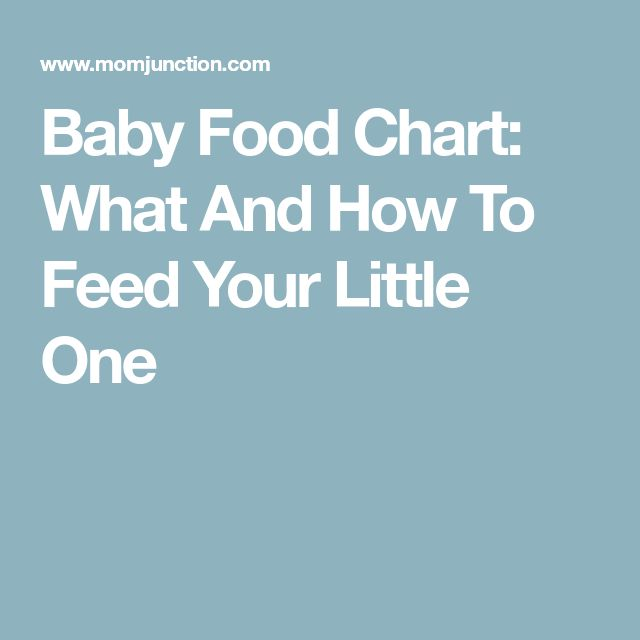 Baby Food Chart: What And How To Feed Your Little One