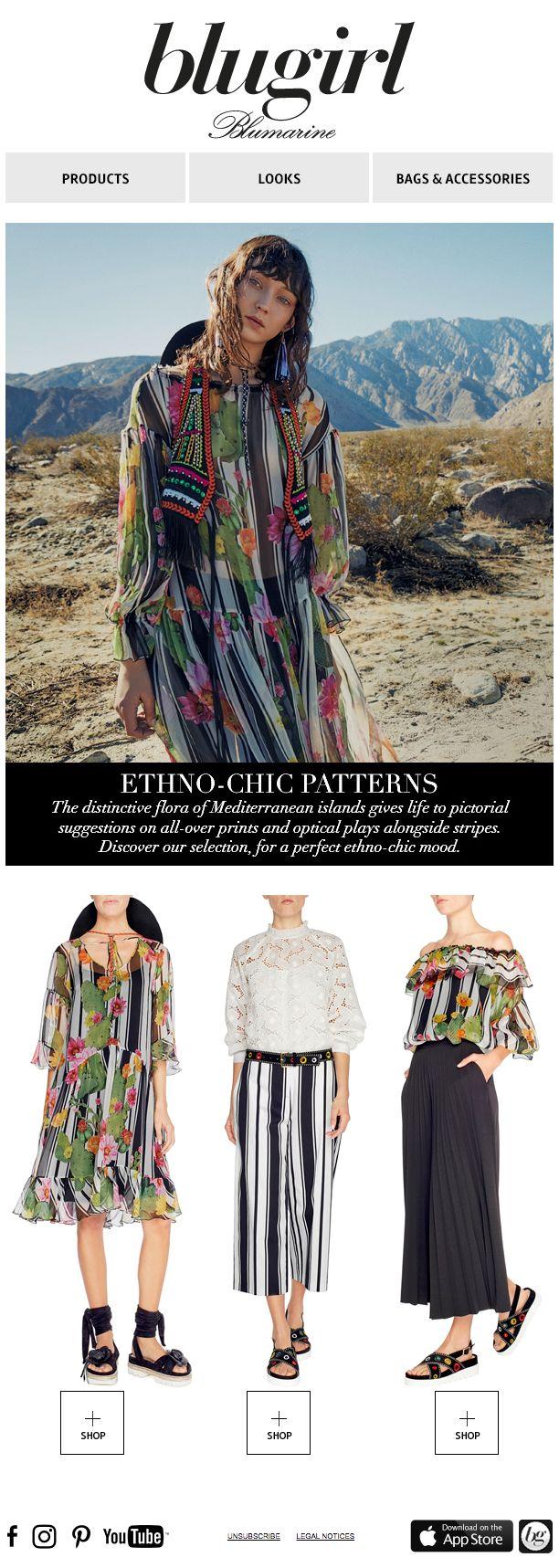 Etno-Chic Patterns • Blugirl Spring Summer 2017 Collection