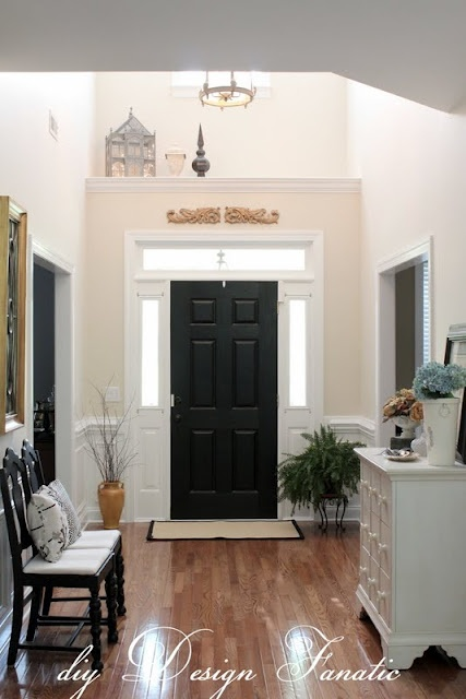 I really want to paint the inside of our front door black!
