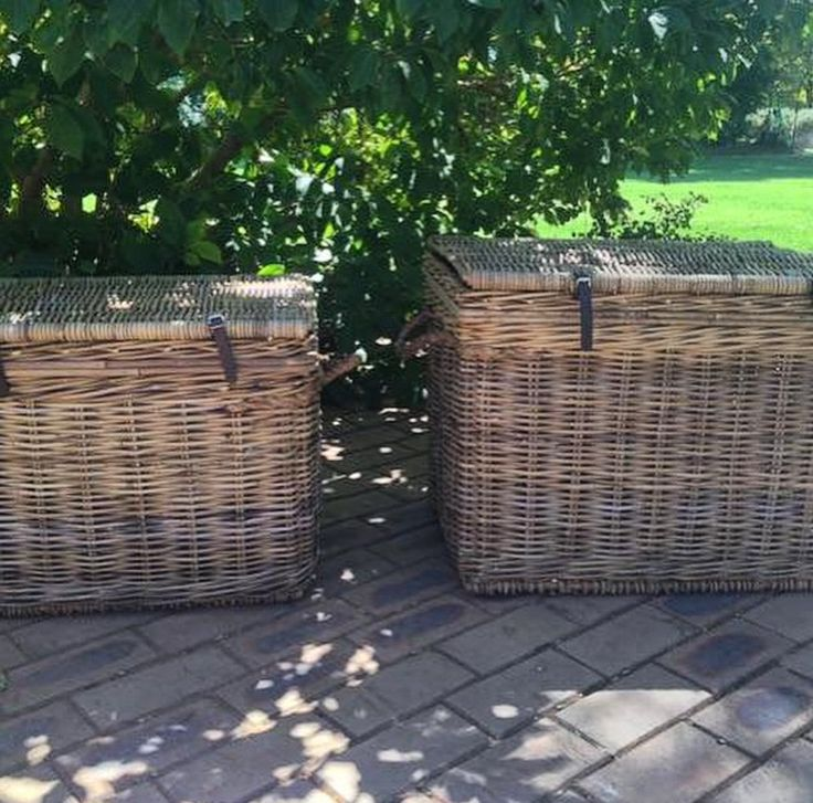 What a lovely pair our Vintage Rattan Storage Trunks make at Frank & Bernie. Available in a variety of sizes perfect for storing blankets, cushions, toys and sporting equipment!  www.rgimports.com.au