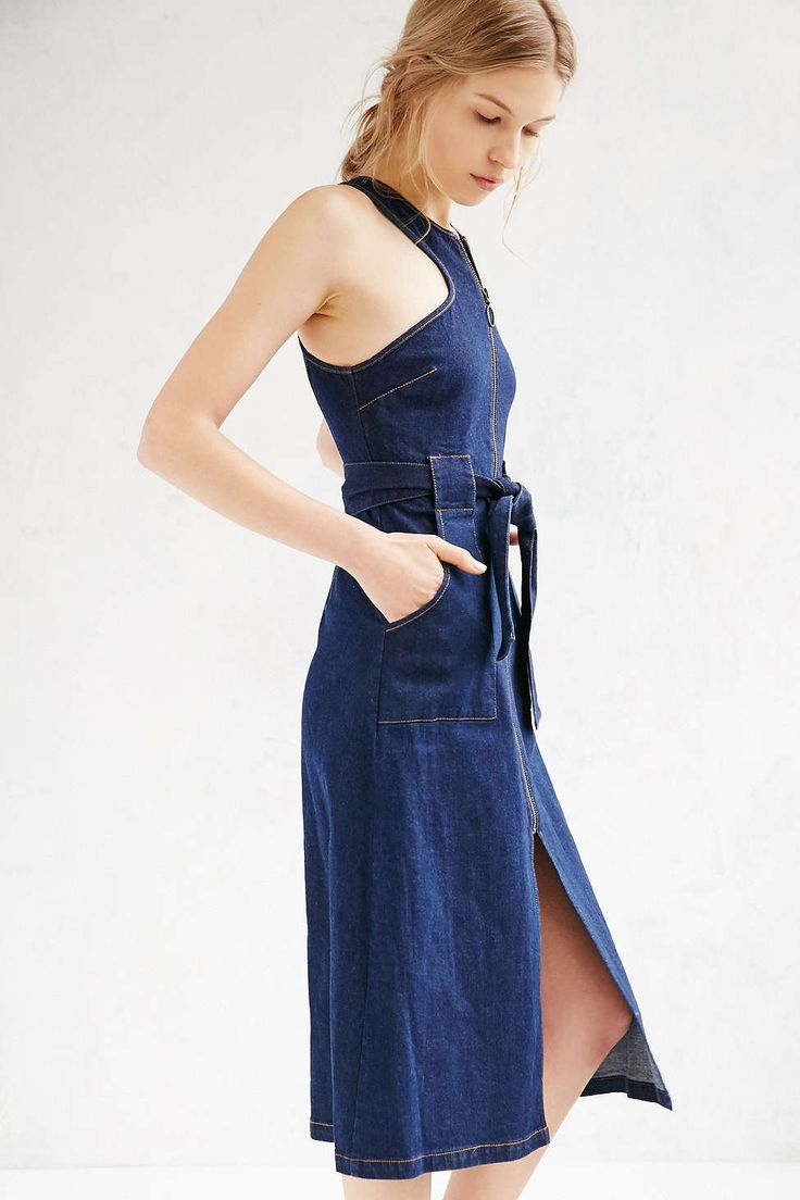 Finders Keepers Aerial Love Denim Midi Dress - Urban Outfitters