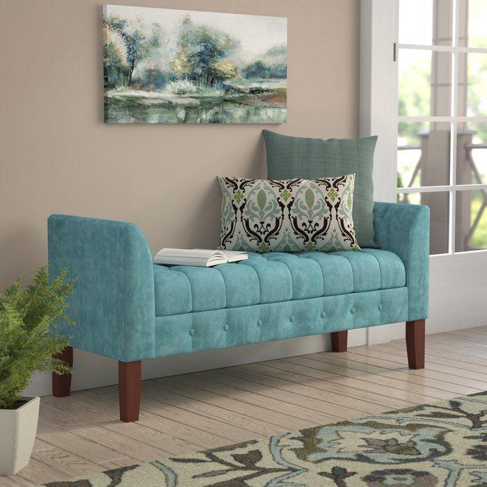 Hana Upholstered Storage Bench White Furniture Living Room Luxury Home Furniture Upholstered Storage Bench