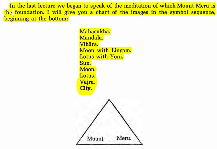 Lecture II 15th November, 1940In the last lecture we began to speak of the meditation of which Mount Meru is the foundation. I will give you a chart of the images in the symbol sequence,beginning a…