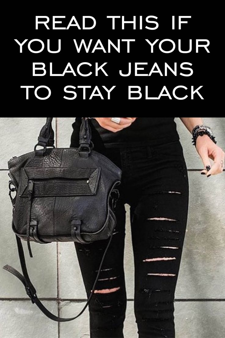 You buy a pair of black jeans, and after a few washes and a few months, they're faded and grey and no longer feel like new. We know the story, so here's a few ways to avoid this!