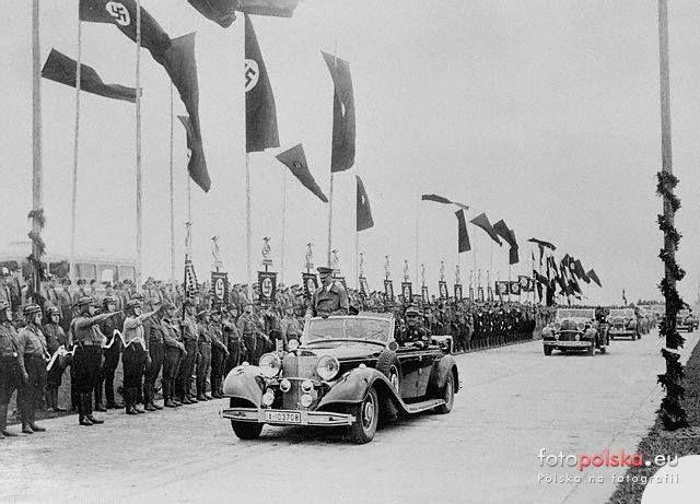 1936, Wizyta Hitlera w Breslau z okazji otwarcia 1000 km autostrady