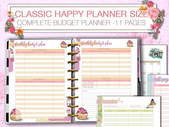 Happy Planner finance planner budget tracker Printable