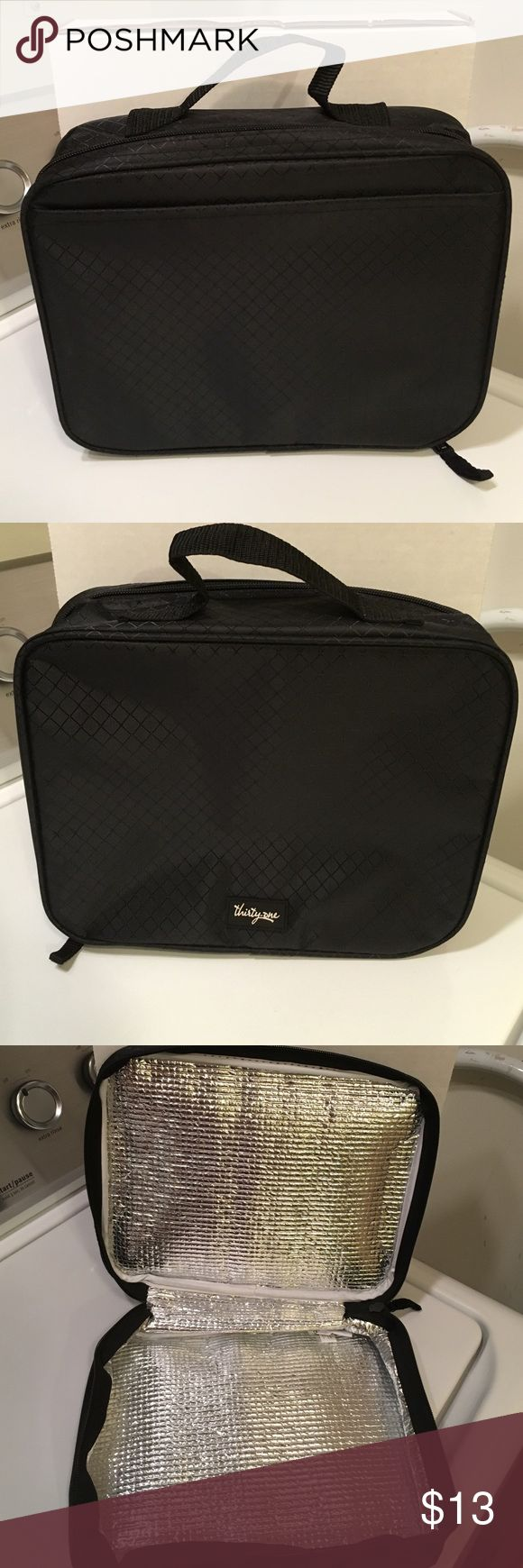 Thirty-One Cool Case Thermal NWOT! Black, Thirty-One Cool Case Thermal. 8H x 10W x 3D Thirty-One Bags Totes